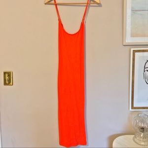 J.Crew Bright Red Cotton Midi Dress